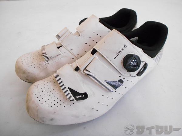 ビンディングシューズ SH-RP400M W01 S サイズ:28.5cm ホワイト ※汚多