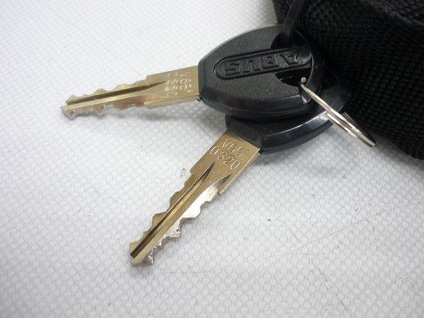 チェーンロック 鍵2本付属 ブラック