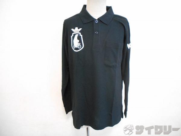 長袖ポロシャツ Mサイズ ブラック