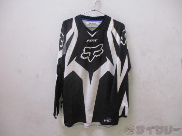 長袖シャツ HC Lサイズ ブラック/ホワイト