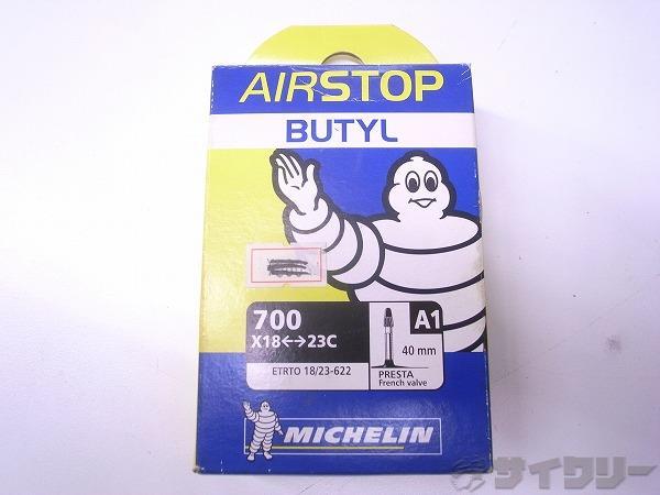 ブチルチューブ AIRSTOP 700x18-23c 仏式40mm
