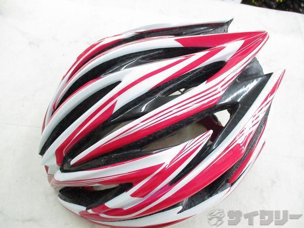劣化あり ヘルメット REDIMOS ピンク/ホワイト サイズ:L