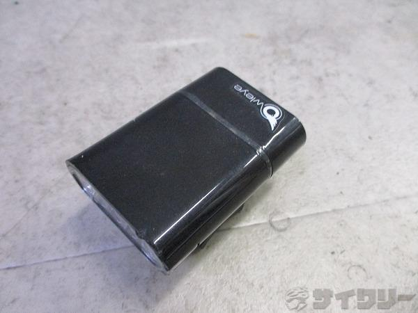 フロントライト USB充電 5LED ホワイト ケーブル/ゴムバンド欠品