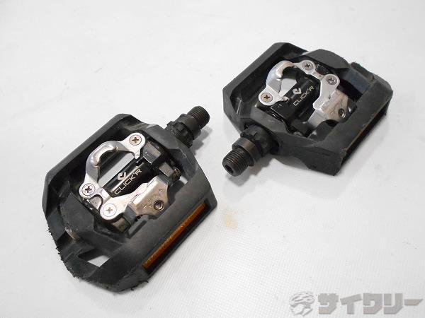 片面ビンディングペダル PD-T420 CLICK´R ブラック SPD対応 ※ガタ有