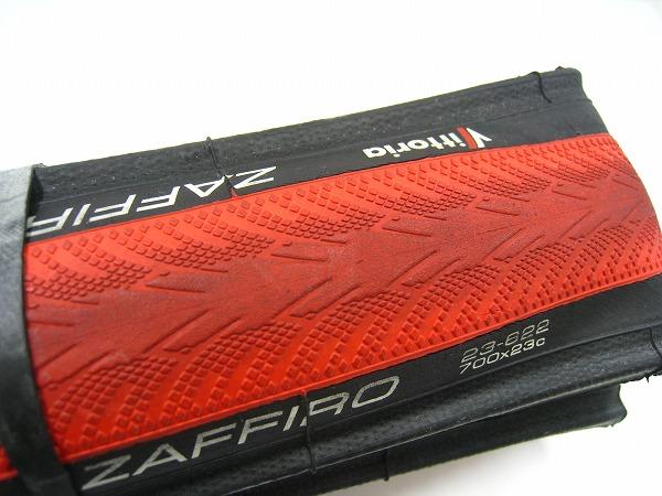 クリンチャータイヤ ZAFFIRO 700x23c ブラック/レッド