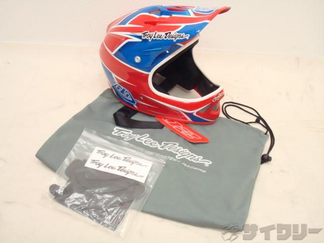 フルフェイスヘルメット D2 Turbo Red/Blue XL(60-62cm)