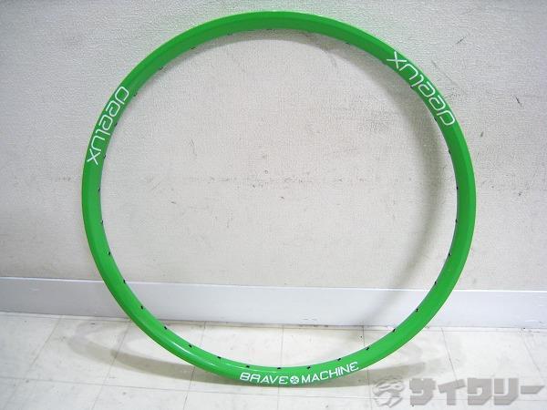26インチリム DEELUX 32H グリーン 米式