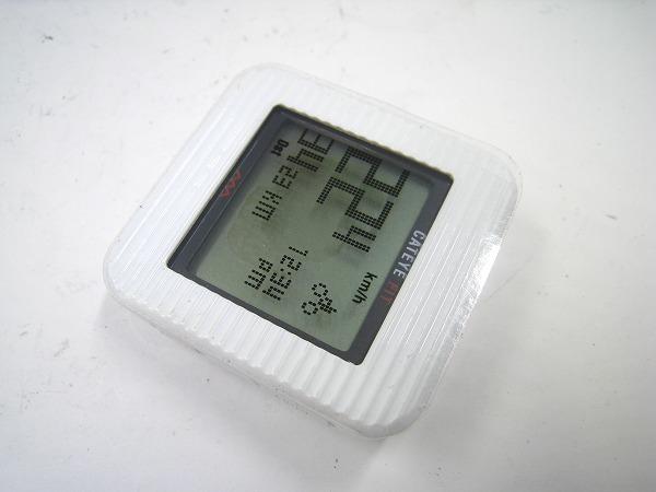 サイクルコンピュータ CC-PD100W FIT 歩数計機能付 ホワイト