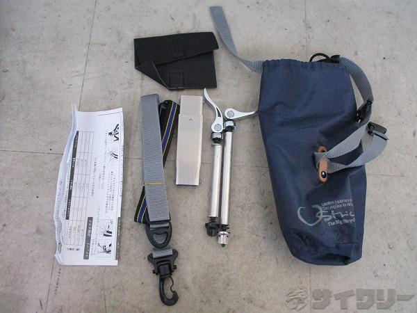 輪行バッグ ロード用 前後輪外すタイプ エンド金具付属