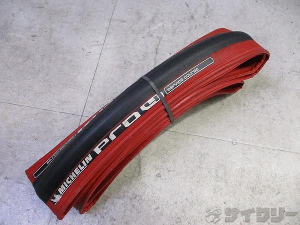 クリンチャータイヤ PRO 4 700x23c レッド