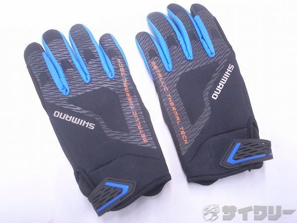 フルフィンガーグローブ Mサイズ ブラック/ブルー