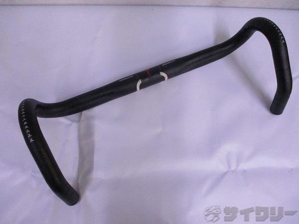 ドロップハンドル ERGO 約405mm(エンドC-C実測)/31.8mm ※歪みあり