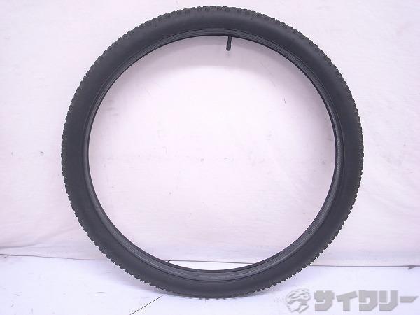 クリンチャータイヤ 27.5x2.10 米式チューブ付き