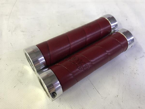 バーグリップ SLENDER LEATHER GRIPS MAROON 約130mm(実測)