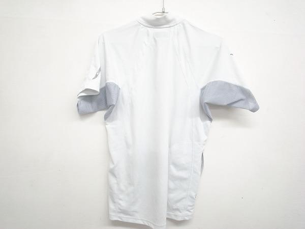 半袖ハーフジップジャージ Lサイズ ホワイト