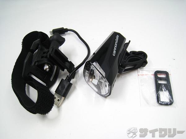 ヘルメット用ヘッドライト LUM-100 キャノンデールロゴ ブラック