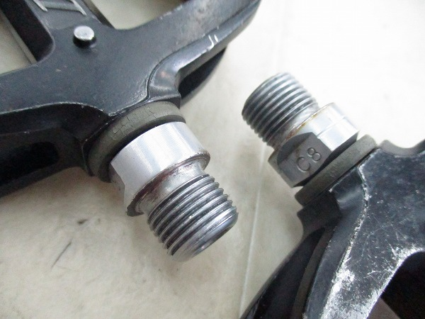 ガタ フラットペダル ロードW ブラック