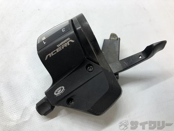 シフター ACERA SL-M390 3s 左レバーのみ ※レバー折れ