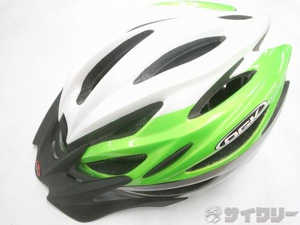 ヘルメット REGAS M/Lサイズ シルバー/グリーン/ホワイト