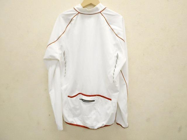 長袖フルジップジャージ  ホワイト サイズ:XL