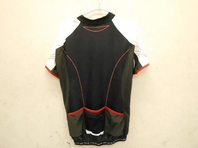 半袖フルジップジャージ ブラック サイズ:XL