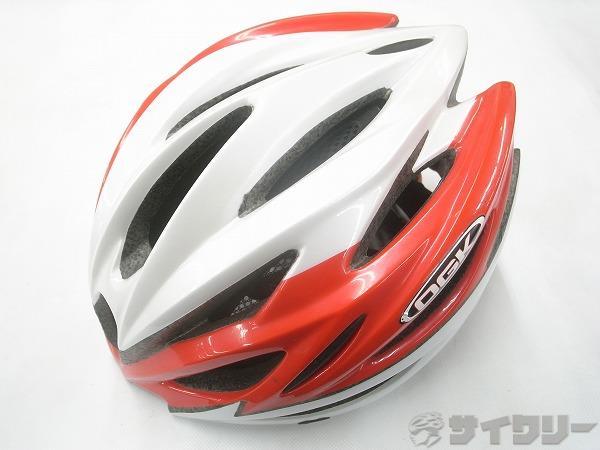 ヘルメット REGAS M/Lサイズ ホワイト/レッド