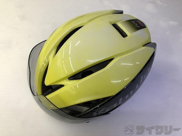 ヘルメット aero R1 ブラック・イエロー サイズ:S/M