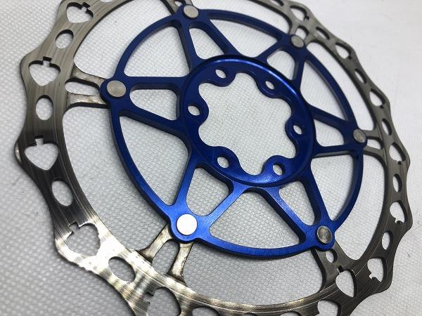 ディスクローター SPADES ブルー 160㎜/6穴