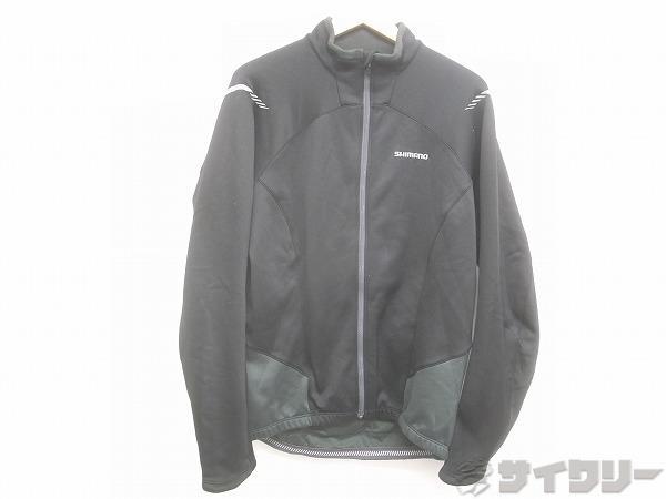 サイクル裏起毛ジャケット XXLサイズ(Asia) ブラック