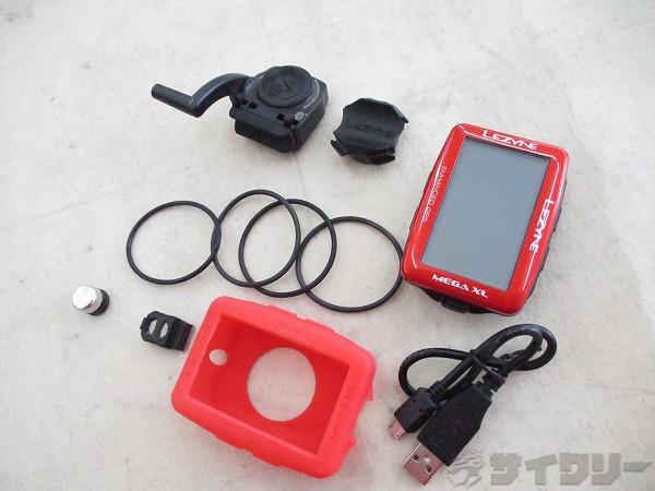 GPSサイクルコンピュータ MEGA XL GPS レッド 動作確認済み