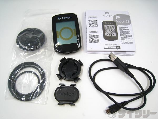 GPSサイクルコンピューター RIDER 15C