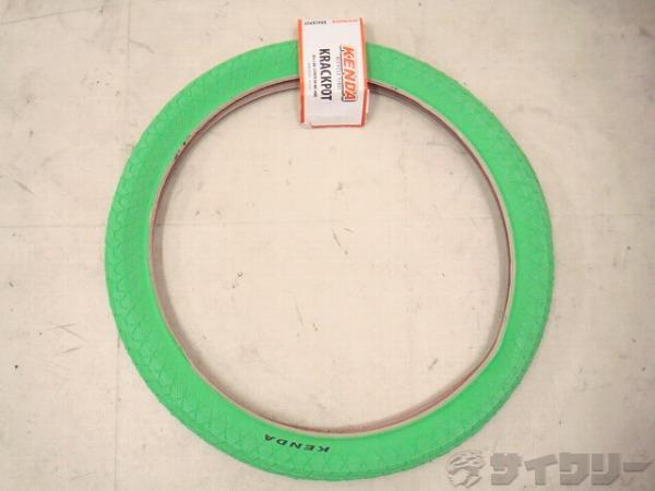 タイヤ Krackpot 20 x 1.95 BMX Wired-on グリーン