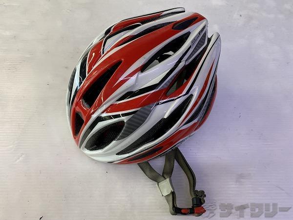 ヘルメット FIGO M/Lサイズ 2016 レッド/ホワイト ※凹みあり