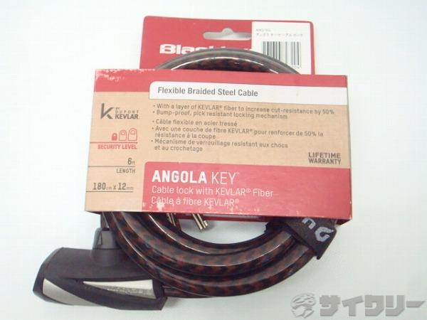 ワイヤーロック ANGOLA KEY φ12x1800mm 鍵式