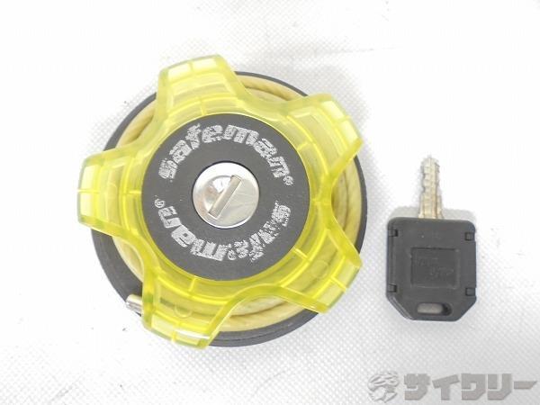 ワイヤーロック DOG3 鍵式 クリアグリーン