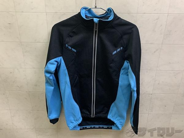 ウィンドブレークジャケット ブラック/ブルー Mサイズ