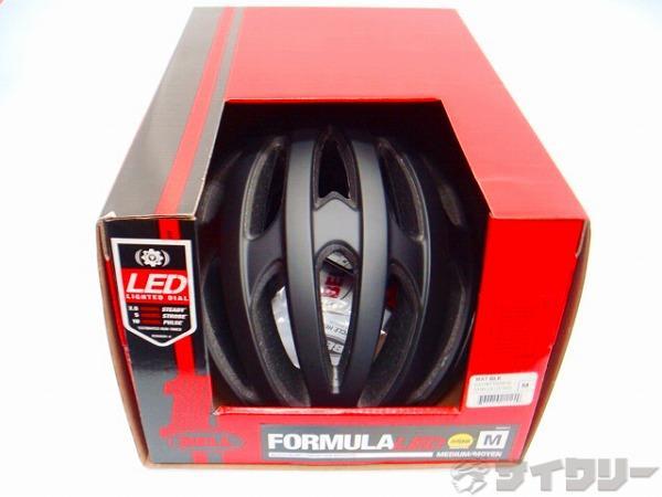 ヘルメット フォーミュラ LED ミップス マットブラック M(55-59cm)