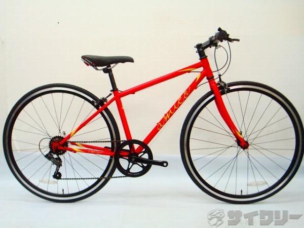 【訳あり】クロスバイク FUN レッド 380 ※サドル中古