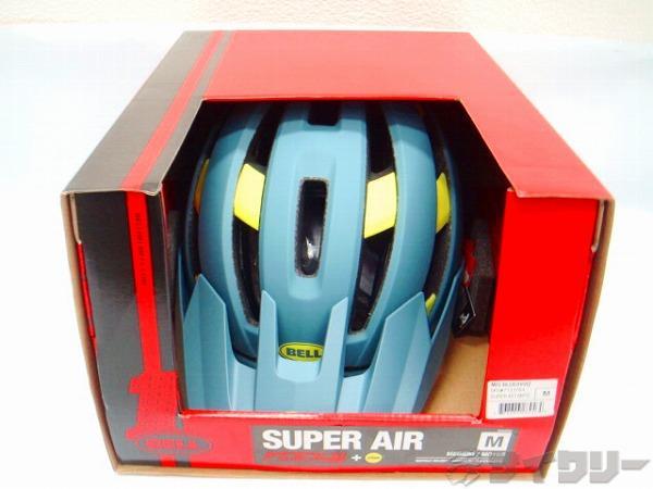 ヘルメット スーパー AIR ミップス  ブルー/ハイヴィズ M(55-59cm)
