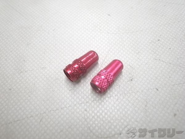 アルミバルブキャップ ピンク 仏式