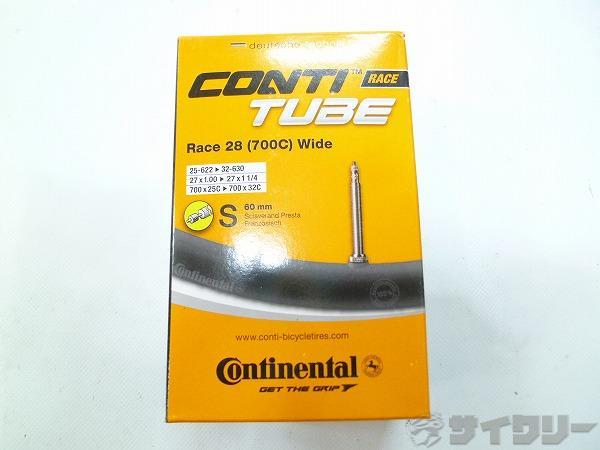 チューブ CONTI TUBE 700x25-32c/60mmバルブ 仏式