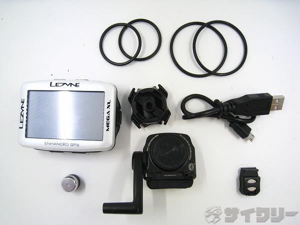 GPSサイクルコンピュータ MEGA XL GPS ホワイト ※爪折れ