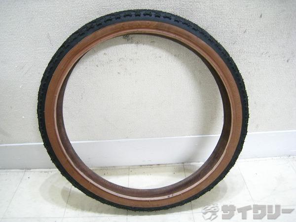 クリンチャータイヤ 47-355(18x1.75) ブラック/ブラウン