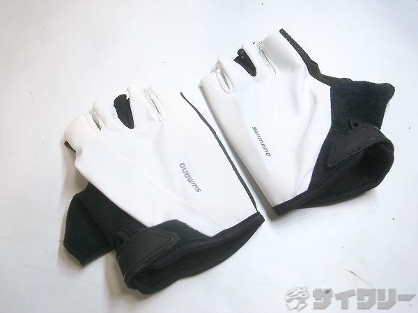 ハーフフィンガーグローブ ホワイト XLサイズ