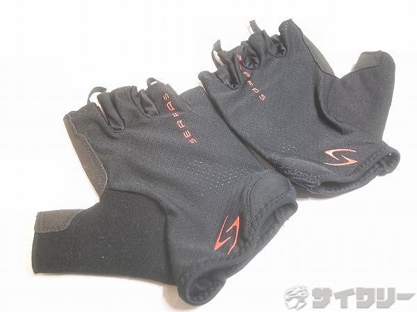 ハーフフィンガーグローブ ブラック サイズ:XL