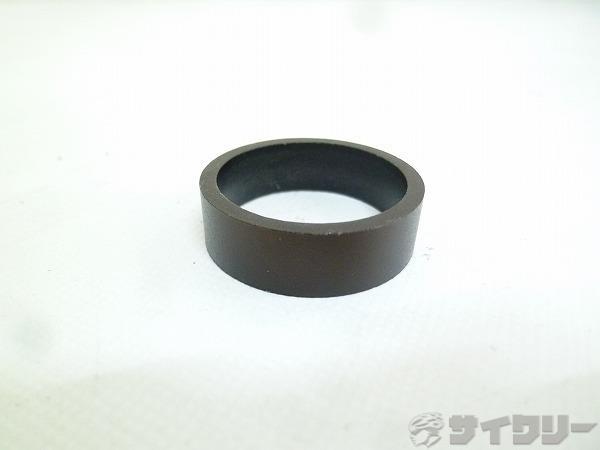 コラムスペーサー アルミ ブラック OSコラム用 高さ:10mm ※微変色