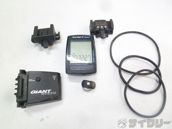 サイクルコンピューター AXACT 9W ブラック ワイヤレス