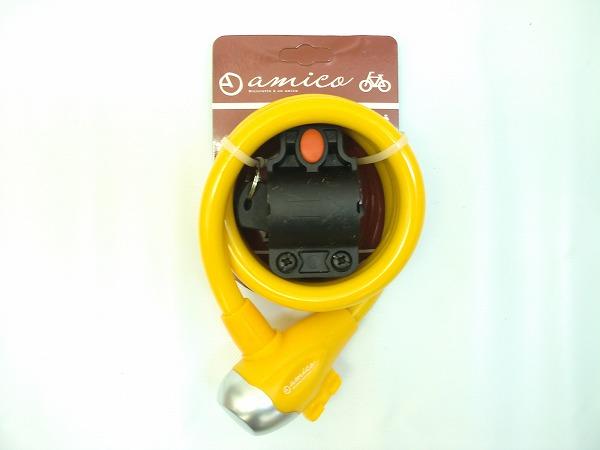 ワイヤーロック 561-B 12mmx1.2m(表記) イエロー *鍵2本付属