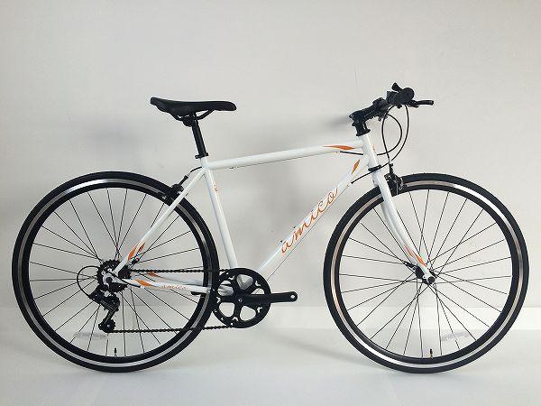 クロスバイク FUN 2.1 ホワイト/オレンジ 380