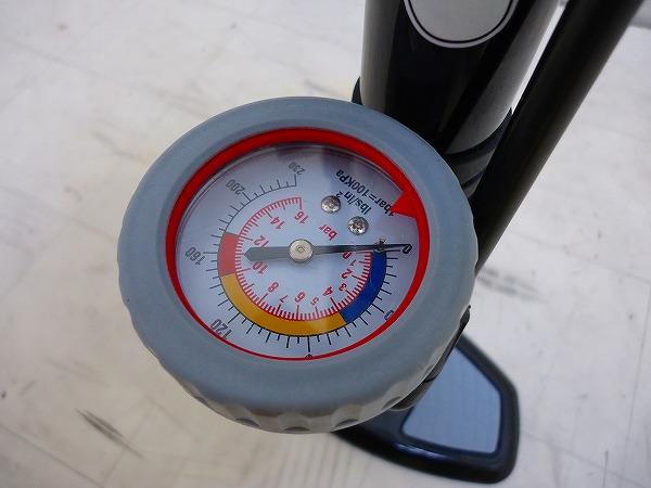 フロアポンプ 仏/米バルブ対応 気圧計付き